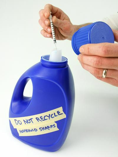 Disposing of needles and syringes